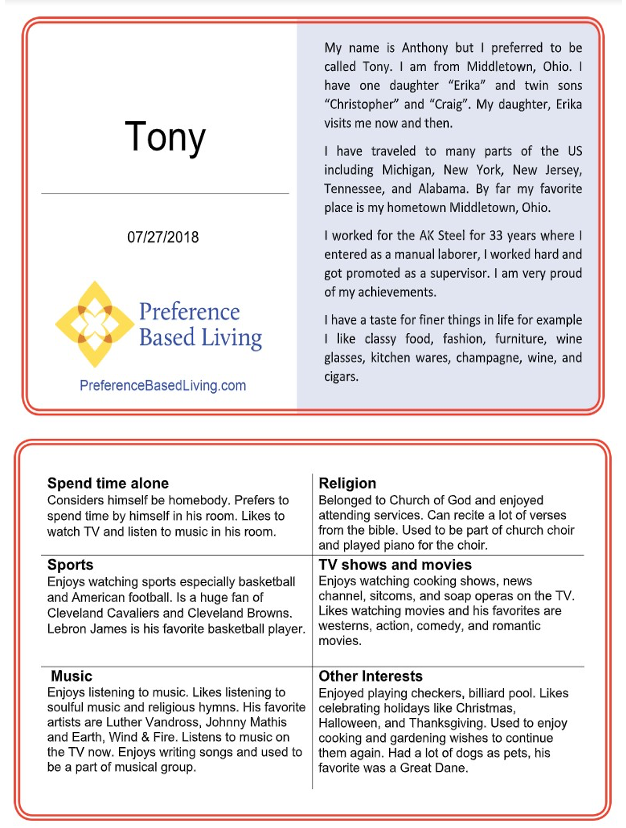 PAL card example